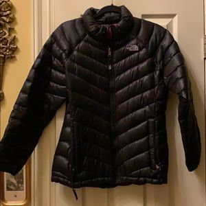North Face Girls Black Zip Up Winter Jacket